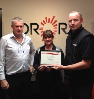 Graeme Challis Production Manager Orora Group Christchurch Paula Richards and Steven Jack Competenz Account Manager